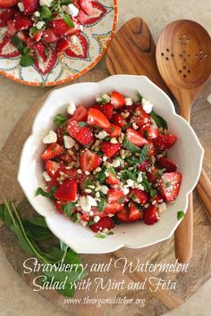 The Sundance Strawberry and Watermelon Salad with Mint and Feta