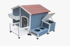 Deluxe Outdoor dog House with Garden box, storage unit, & feeding tray with bowls! Order yours here ➩➩     http://amzn.to/2rtpZ67