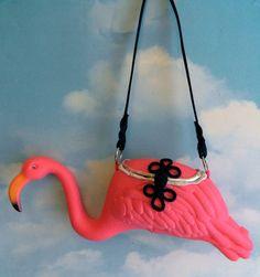 Pink Flamingo Purse by EyeCandySugar on Etsy, $45.00