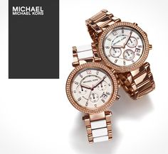 Michael Kors watches- i want the rose gold one