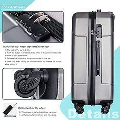 Amazon.com | Merax 3 Piece P.E.T Luggage Set Eco-friendly Light Weight Spinner Suitcase | Luggage Sets Best Luggage, Luggage Sets, Spinner Suitcase, Business Travel, 3 Piece, Eco Friendly, Amazon, Amazons, Riding Habit