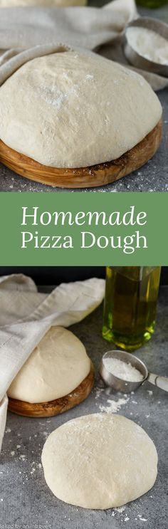 Enjoy pizza at home with this all-time favorite recipe for homemade pizza dough. You will never need another recipe! via @introvertbaker