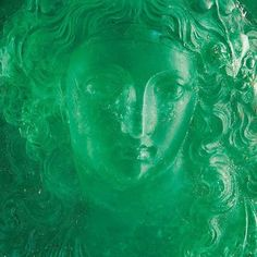Exceptional emerald cameo and rose-cut diamond brooch, originally owned by Princess Lobanov-Rostovsky, a member of Russia's oldest royal dynasty.