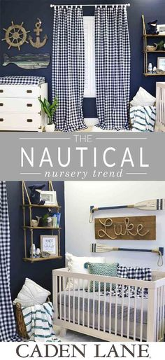 Oh boy, this nautical nursery has us dreaming of the cutest baby boy nursery we've seen. Check out our entire collection of nautical inspired crib bedding and nursery decor.