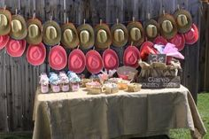 Cowboy/Cowgirl themed Party- Hand out hats as your guests walk in!