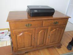 Vintage Ethan Allen Solid Wood Dining Server #EthanAllen