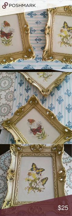 "Antique Victoran Shabby Gilt Frames Lot Vintage pair of fabulous Victorian Shabby Gilt Frames. Distressed to highlight the beauty Shell motifs with open work and scrolling. Measures: 9 5/8"" X 7 3/4"" outside dimensions. Vintage Victorian Other"