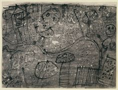 Jean Dubuffet. The Visitors Welcomed. August 1949