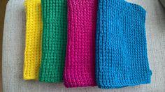 Karklude, vaskeklude. Nye farver, nyt mønster.