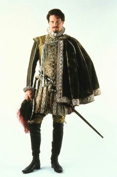 Tudor - Shakespeare in Love - Colin Firth as Lord Wessex Mode Renaissance, Renaissance Costume, Medieval Costume, Renaissance Fashion, Renaissance Clothing, Theatre Costumes, Movie Costumes, Historical Costume, Historical Clothing