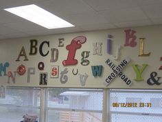 ABC wall in my second grade room.
