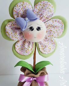 Handmade Flowers, Diy Flowers, Fabric Flowers, Paper Flowers, Dyi Crafts, Felt Crafts, Fabric Crafts, Arts And Crafts, Sewing Dolls