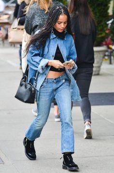 Zoe Kravitz Studded Shoulder Bag