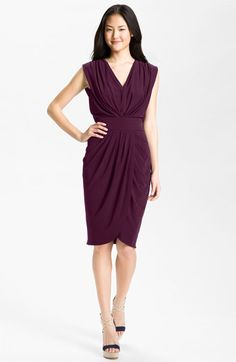 Suzi Chin for Maggy Boutique Double-V Draped Jersey Dress available at Nordstrom for Miye perhaps