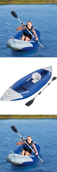 Inflatables 87090: Inflatable Kayak Ozark Trail 1 Man Kayac Canoe Fishing Lake Boat Bonus Oar New -> BUY IT NOW ONLY: $216.79 on eBay!
