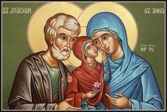 Saint Joachim and Saint Anna. This icon was not made in Eastern tradition, but St. Joachim and St. Anna are my heavenly patrons.