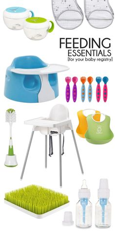 essentials for feeding baby - put these on your baby registry! #babyregistry #momtobe #babyessentials