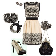 Black and Cream, created by amyjoyful1 on Polyvore