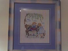 Boy and girl cross stitch