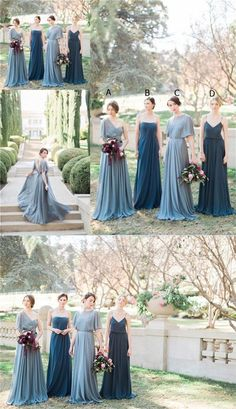 Charming Most Popular Bridesmaid Dresses, Different Style Best Sales Bridesmaid Dresses Online, The long prom dresses are fully lined, 4 bones in the bo Mismatched Bridesmaid Dresses, Bridesmaid Dresses Online, Wedding Bridesmaid Dresses, Prom Dresses, Bridesmade Dresses, Bridesmaid Dress Colors, Formal Dresses, Blue Wedding, Wedding Colors