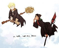 I love that the brooms are a representation of their wings <3 << oh my god you're right wow that's amazing