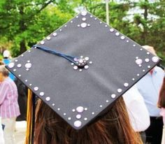Want to stand out at graduation?  Add your own personal embellishments to your graduation cap with Glue Dots!