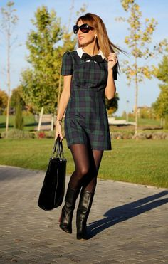 LOLA MANSÍL Fashion Diary: TARTAN DRESS, LOW COST