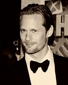 Alex Skarsgard. I could stare at his amazing beauty for hours on end...