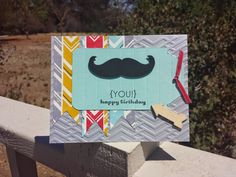 Stampin' Up! Masculine Birthday: Mustache Time :)