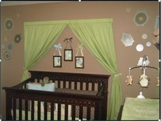 Small Nursery with reflective Small Nursery Ideas:Decorating Ideas for a Small Babys Room