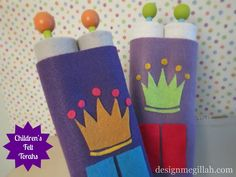 Easy paper towel roll/felt Torahs for Simchat Torah