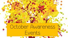 For High School Counselors: October Awareness Days for School Counselors