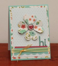 Nicole challenges you to create a card and mail it to someone this week. This is her card. There's a prize, too!