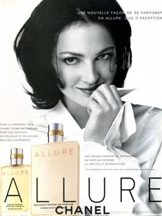 Allure by Chanel with Sandra North Vintage Advertisements, Vintage Ads, Perfume Adverts, Parfum Chanel, Real Coffee, Expensive Gifts, Chanel Beauty, Fitness Gifts, How To Make Tea