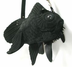 amazing black fish purse by Atelier Iwakiri.