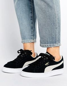Puma Suede Classic Sneakers In Black Outfits Con Zapatillas 892ec1873aa