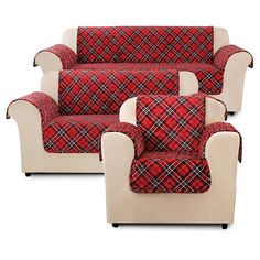 Furniture Flair Tartan Plaid Cover Collection Sure Fit : Target