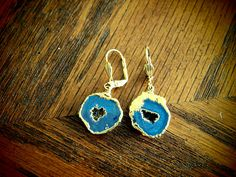 Dara Ettinger Keri Earrings - Tiny Brilliant Geode Half Earrings Color: Midnight  Orig:  $110  SALE:  **$39.99**    buy.ephphie@gmail.com