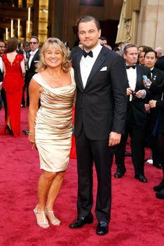 Pin for Later: Quand les Célébrités Mettent Leurs Mamans en Avant Sur le Tapis Rouge Leonardo DiCaprio et Irmelin Indenbirken