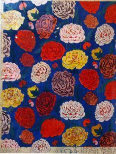 Stofontwerp Raoul Dufy  - chrysanten