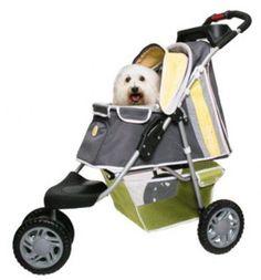 1st Class 3 wheeled Jogger ~ blue, pink or yellow & holds pets up to 45#! available @ http://doggyinwonderland.com/item_950/1st-Class-3-wheeled-Jogger.htm $165.00