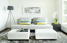 Decoração de salas de estar pequenas quadradas