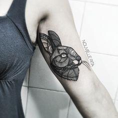 #nouvellerita #bunny #tattoo #linework