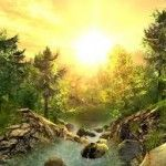 sun shine 3d nature wallpaper