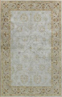 Designer rugs at 60% off! Bashian Wilshire Moghul Light Blue Rug | Traditional Rugs