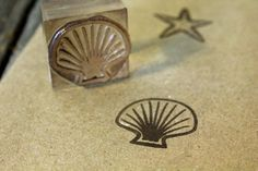 Sea Shell Rubber Stamp by HootOwlPress on Etsy