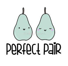 Perfect Pair, pear, pun, food, punny, food puns, cute, love, sweet, kawaii, heart, wedding, cartoon, fruit, green, anniversary, couple, valentines, valentine, kiss, true love, i love you, nerd, geek