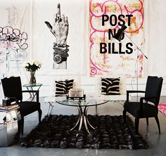 another strong statement with art and furniture. room by ryan korban. shot by Patrick Kline.