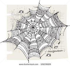 Halloween spider web background