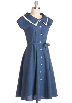 Journey to the Mast Dress in Navy, #ModCloth